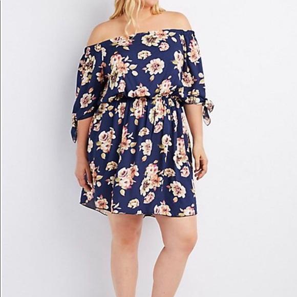 Charlotte Russe plus size floral dress